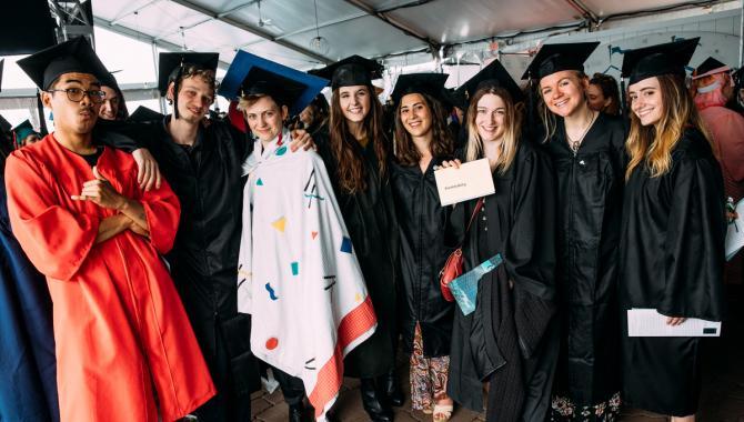 Alumni at the 2019 MassArt Commencement