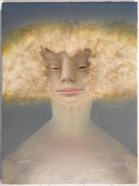 Portrait (Gold Hair), Anne Harris